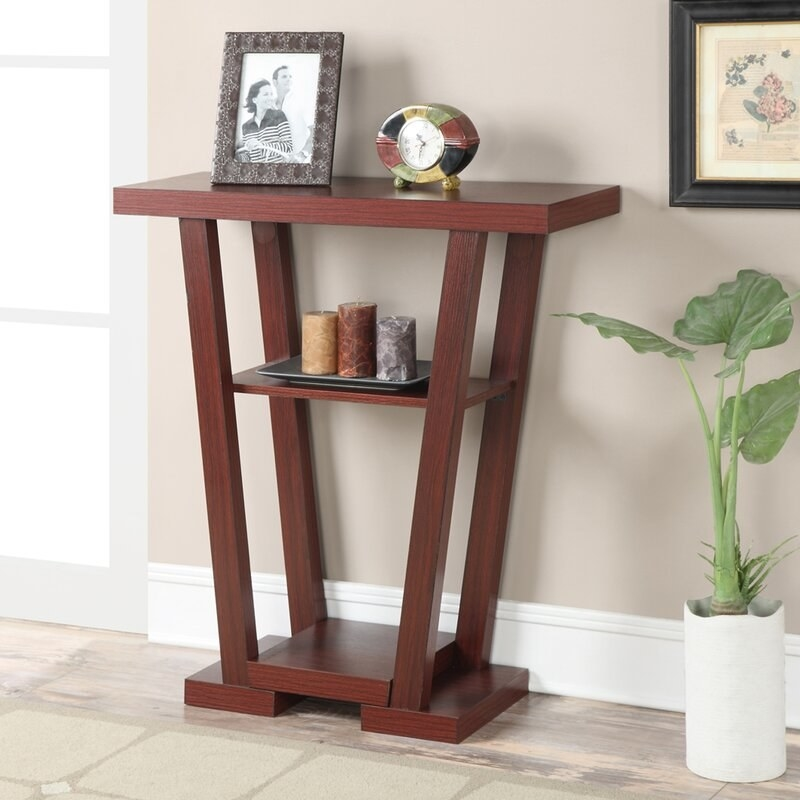 The console table in mahogany