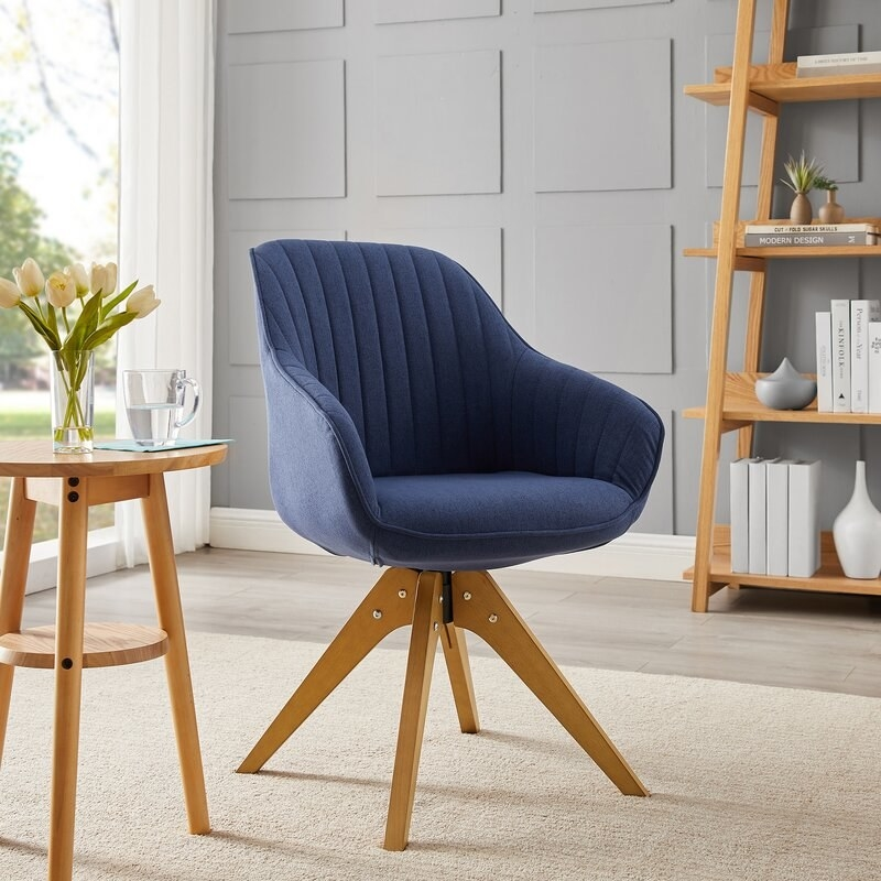 The chair in royal blue