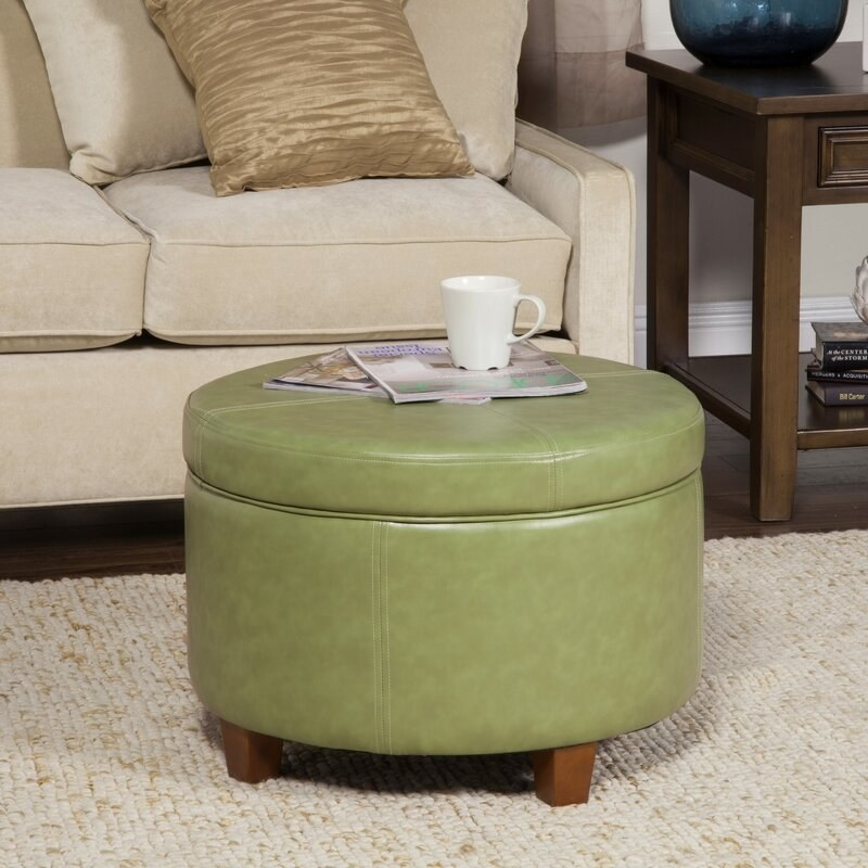 The ottoman in green