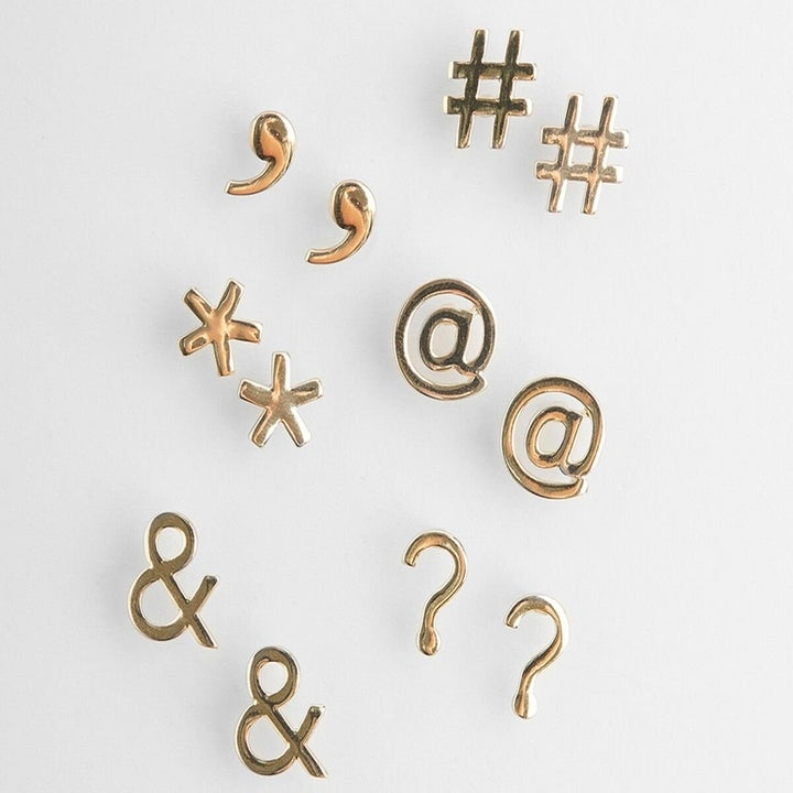 the various special character earrings in the set