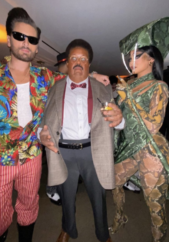 Kylie Jenner, Scott Dissick, and The Weeknd partying