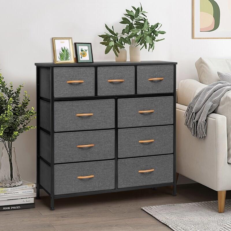 The dresser in gray