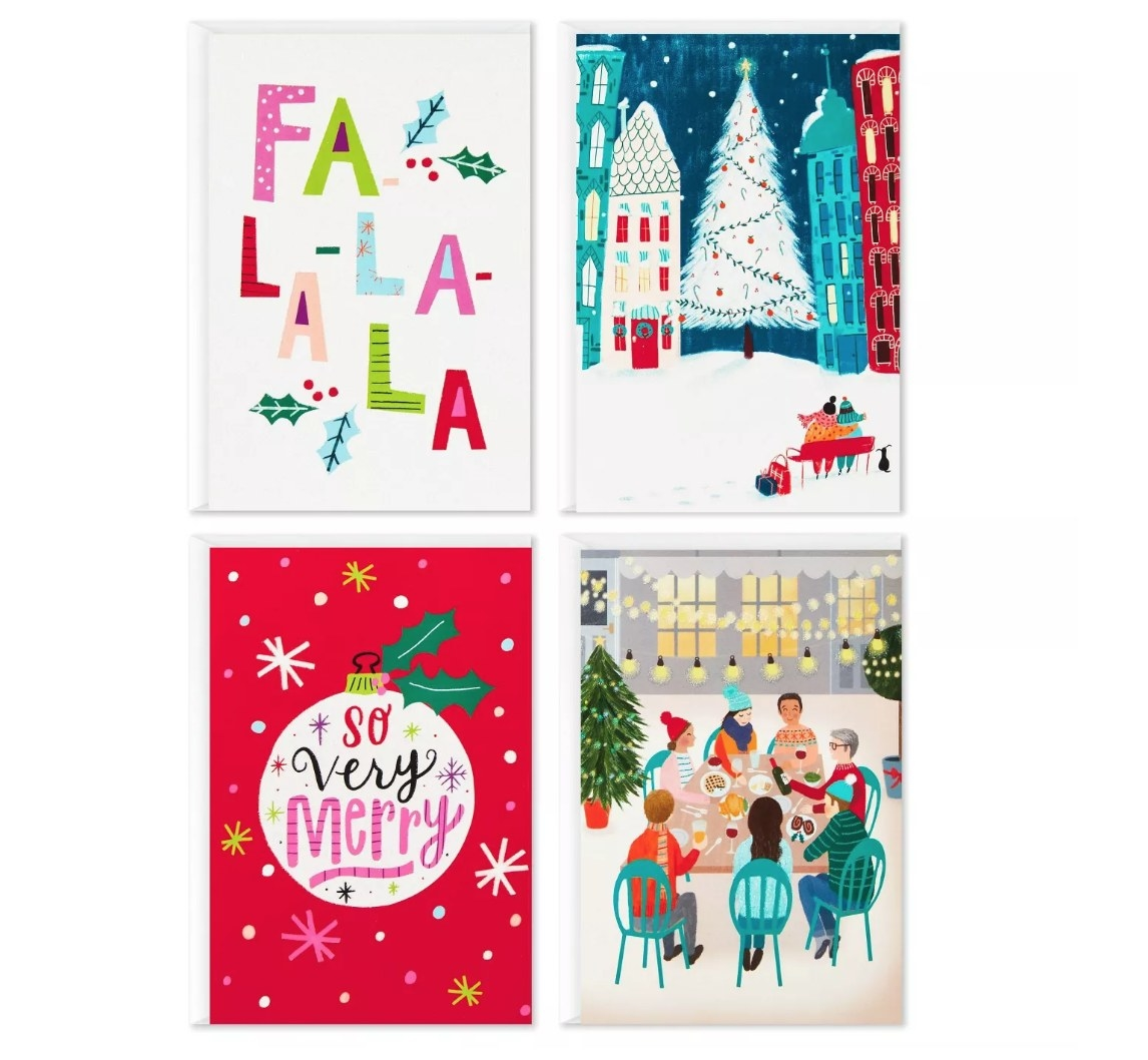 Assorted holiday greeting cards