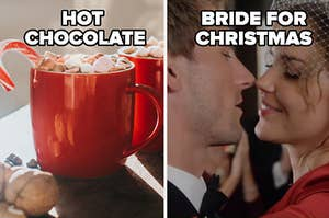 hot chocolate and a bride for christmas