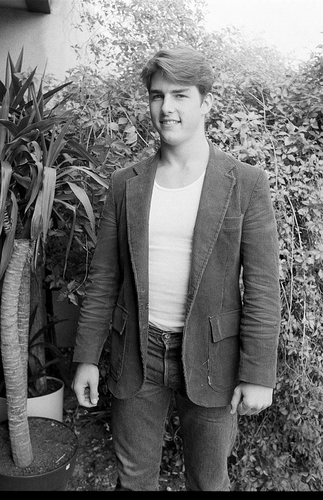 black and white picture in his early 20s
