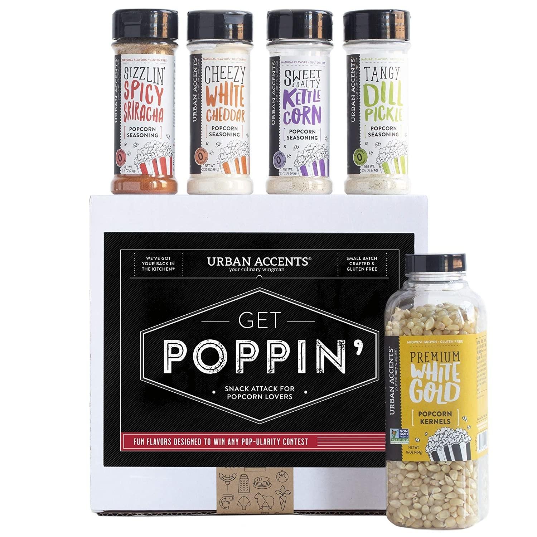 the popcorn kernels and various seasonings
