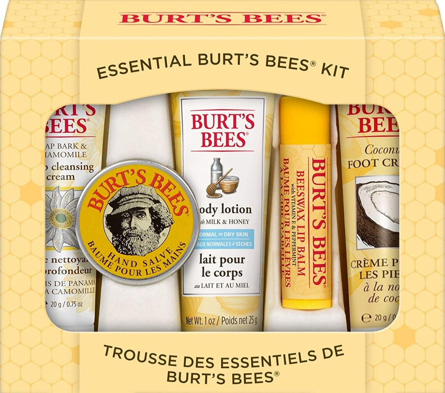 various Burt's Bees products in a set