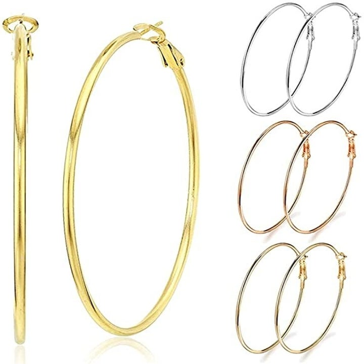 photo of 4 pairs of hoops