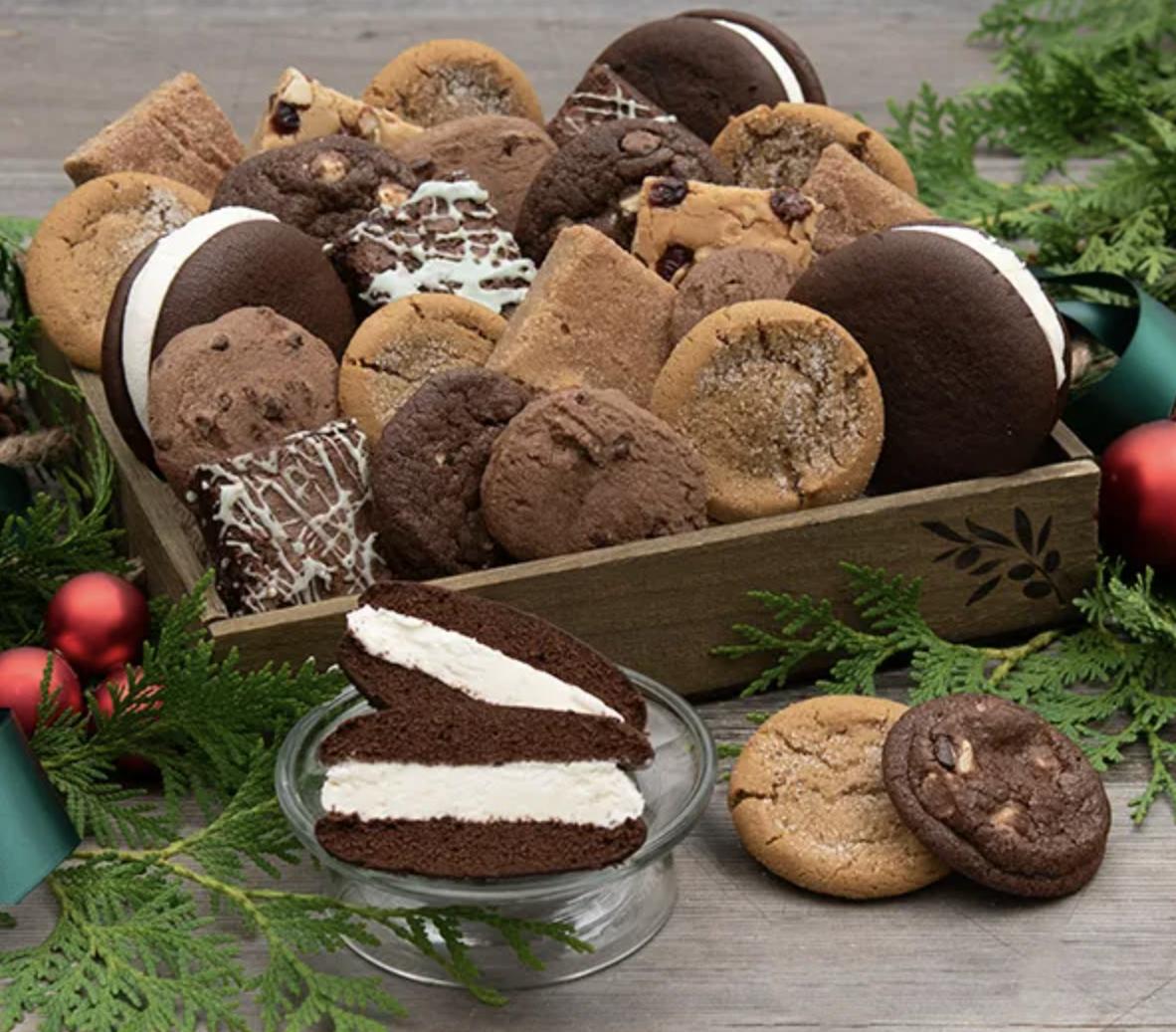 various cookies, brownies, blondies, and whoopie pies