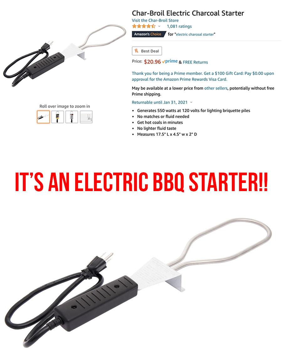 An electric BBQ starter