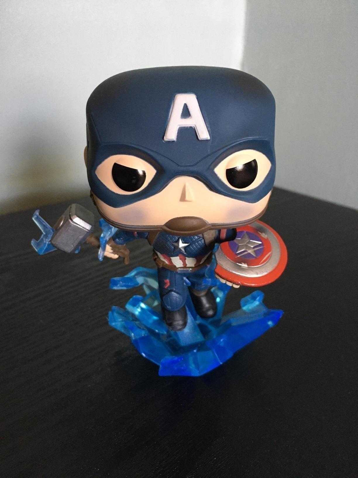 Captain America Funko Pop on table