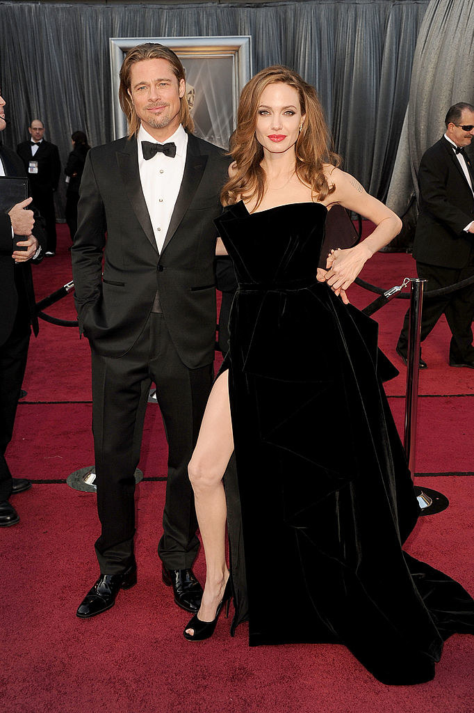 with angie jolie