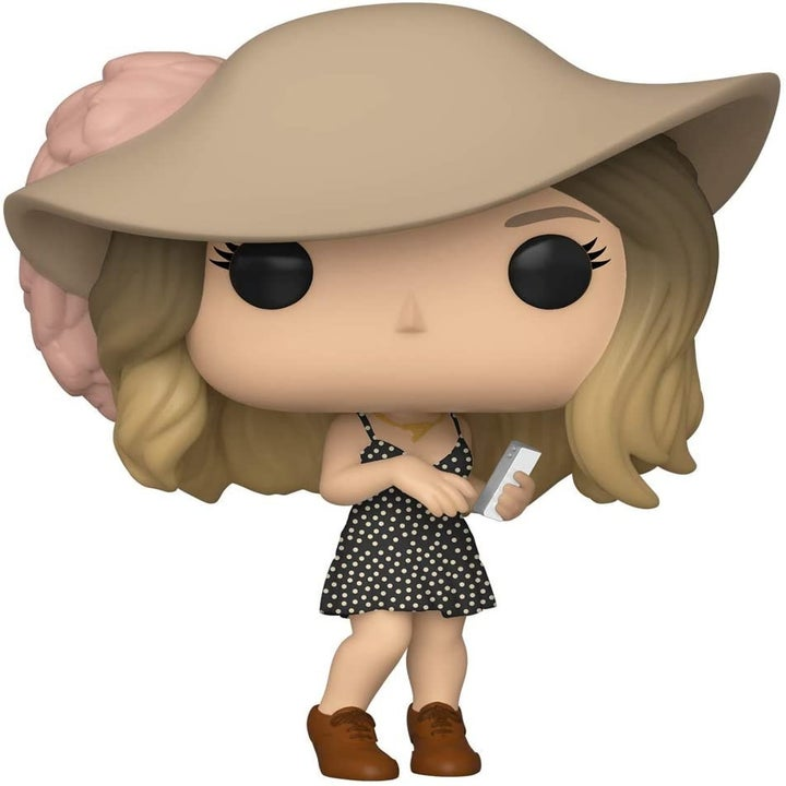The Alexis figure wearing a a floppy-brimmed hat