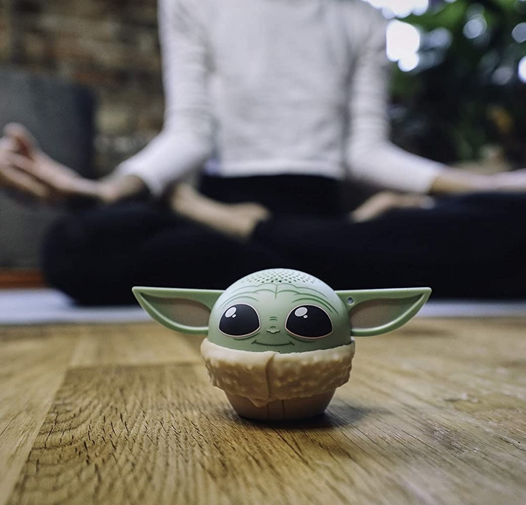small baby yoda speaker with long ears