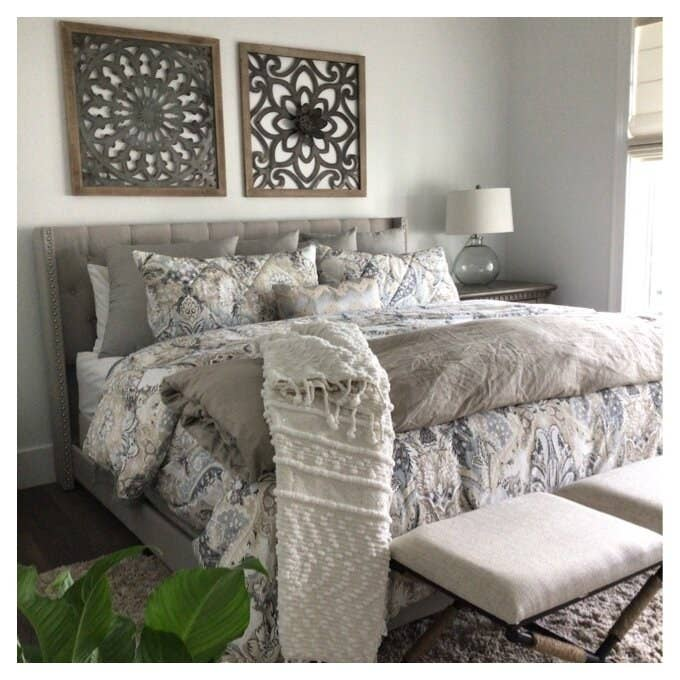 The gray bed