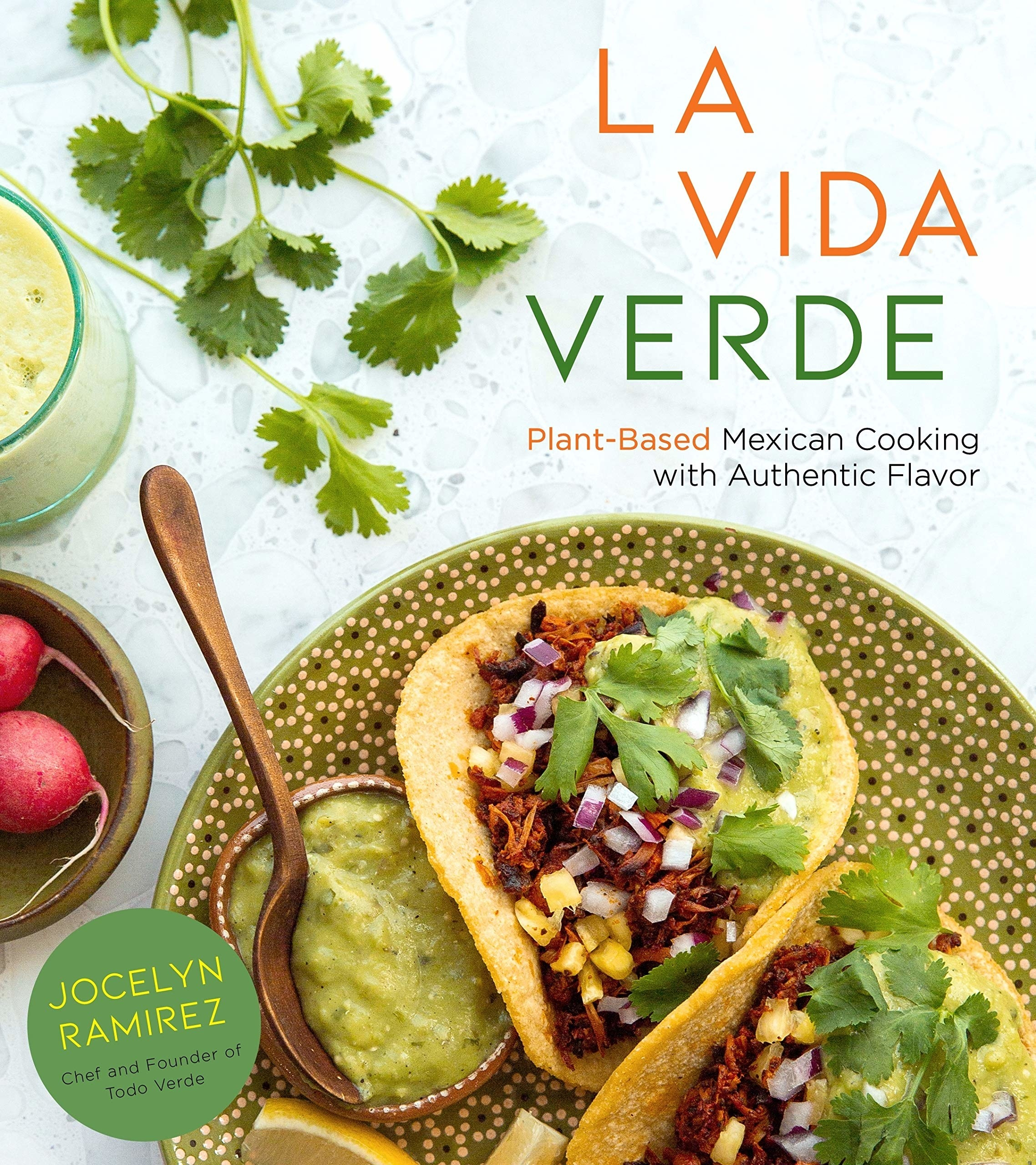 The book cover with jackfruit tacos on the cover