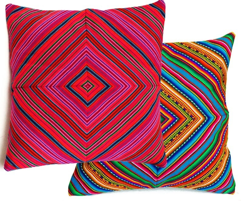 Two colorful pillows