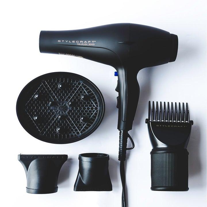 The five-piece black hair dryer set