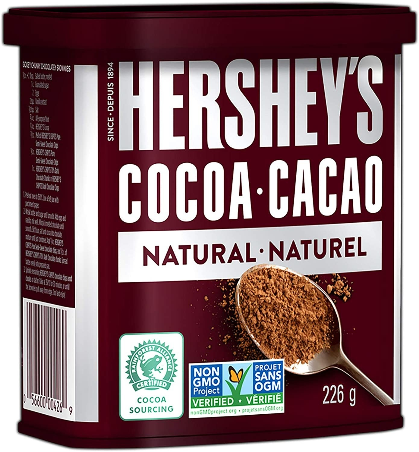 A container of cocoa powder