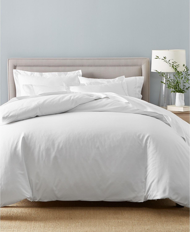 The damask duvet set in white