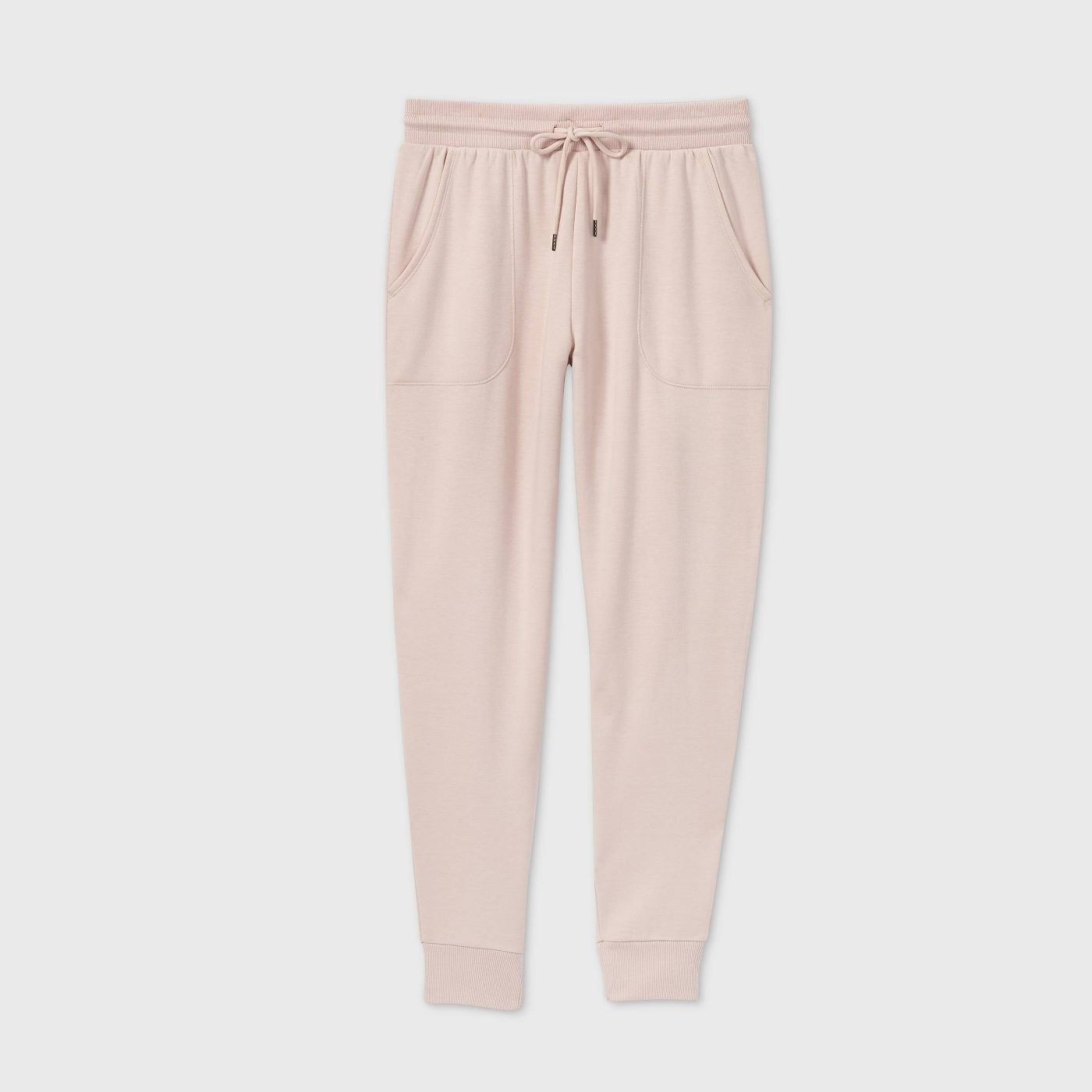 The joggers in light pink