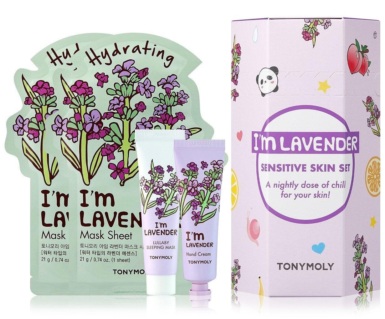 The four-piece I'm Lavender sensitive skin set