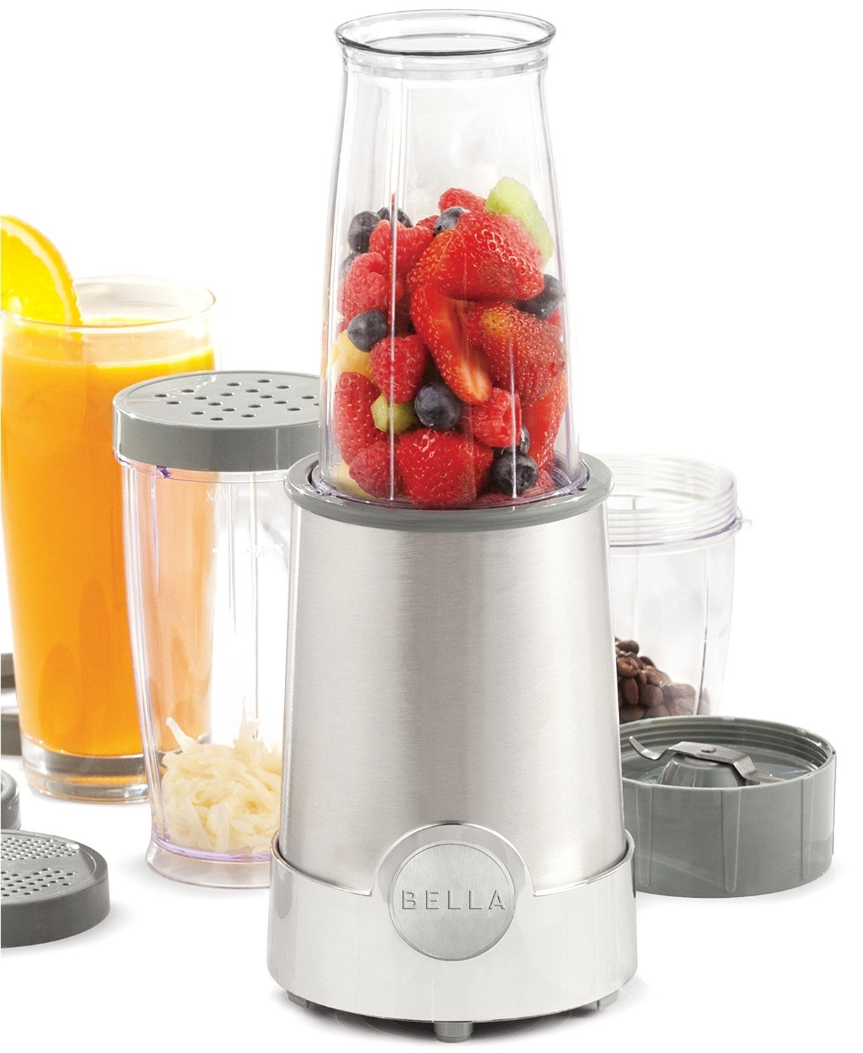 The 12-piece silver blender set which comes with various blending cups