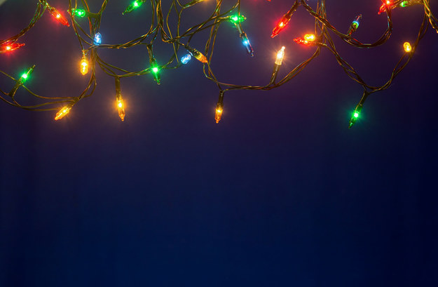 A string of multicolored Christmas lights