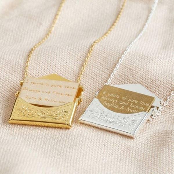 The envelope necklaces