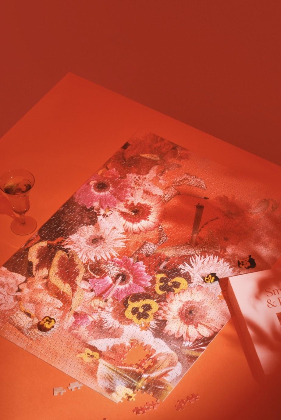 The Smoke & Petals puzzle assembled