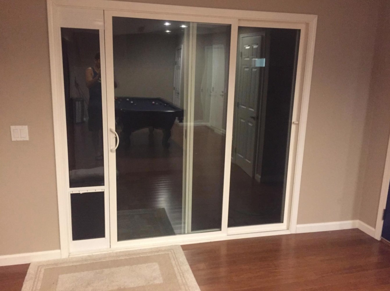 The patio sliding glass door for pets
