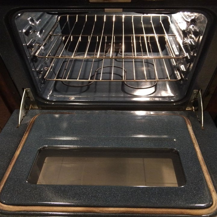 The same reviewer's oven showing the now clean interior