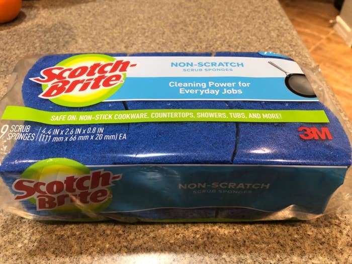 reviewer image of a pack of scotch-brite non-scratch sponges