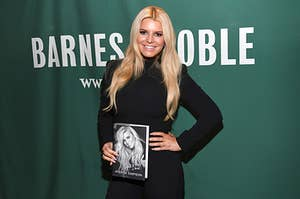 """Jessica Simpson signs copies of her new book """"Open Book"""" at Barnes & Noble Union Square"""