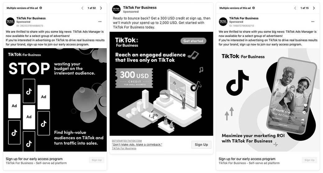 & quot; TikTok para empresas & quot;  anuncios en facebook
