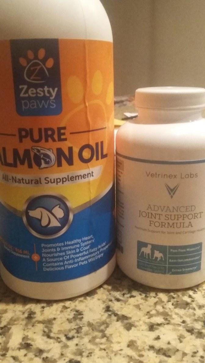 The bottle of pure alaskan salmon oil