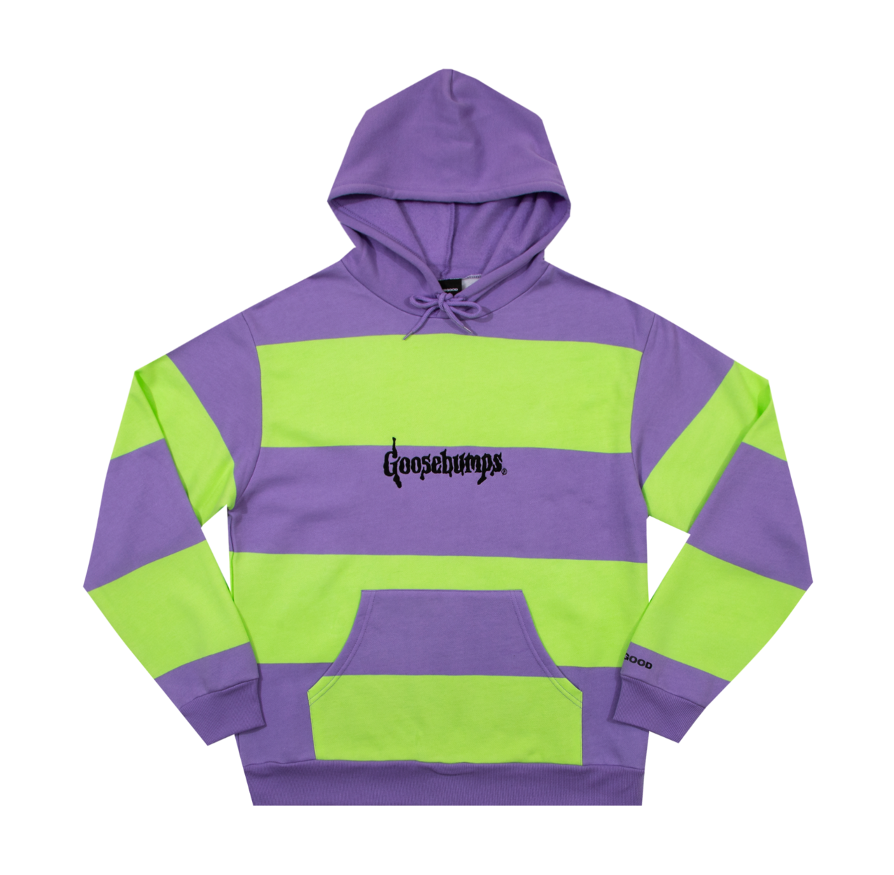 the goosebumps logo striped hoodie