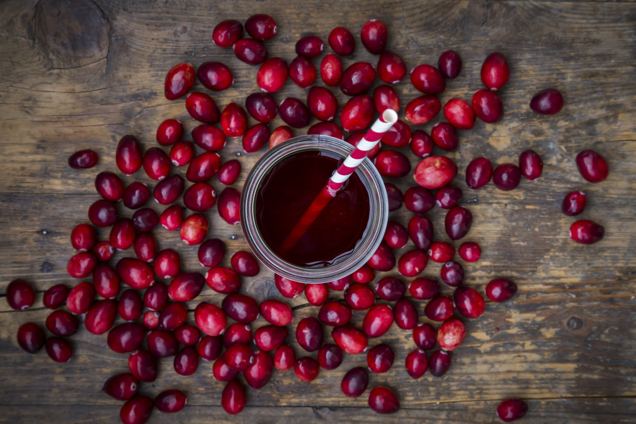 An image of a glass of cranberry juice.