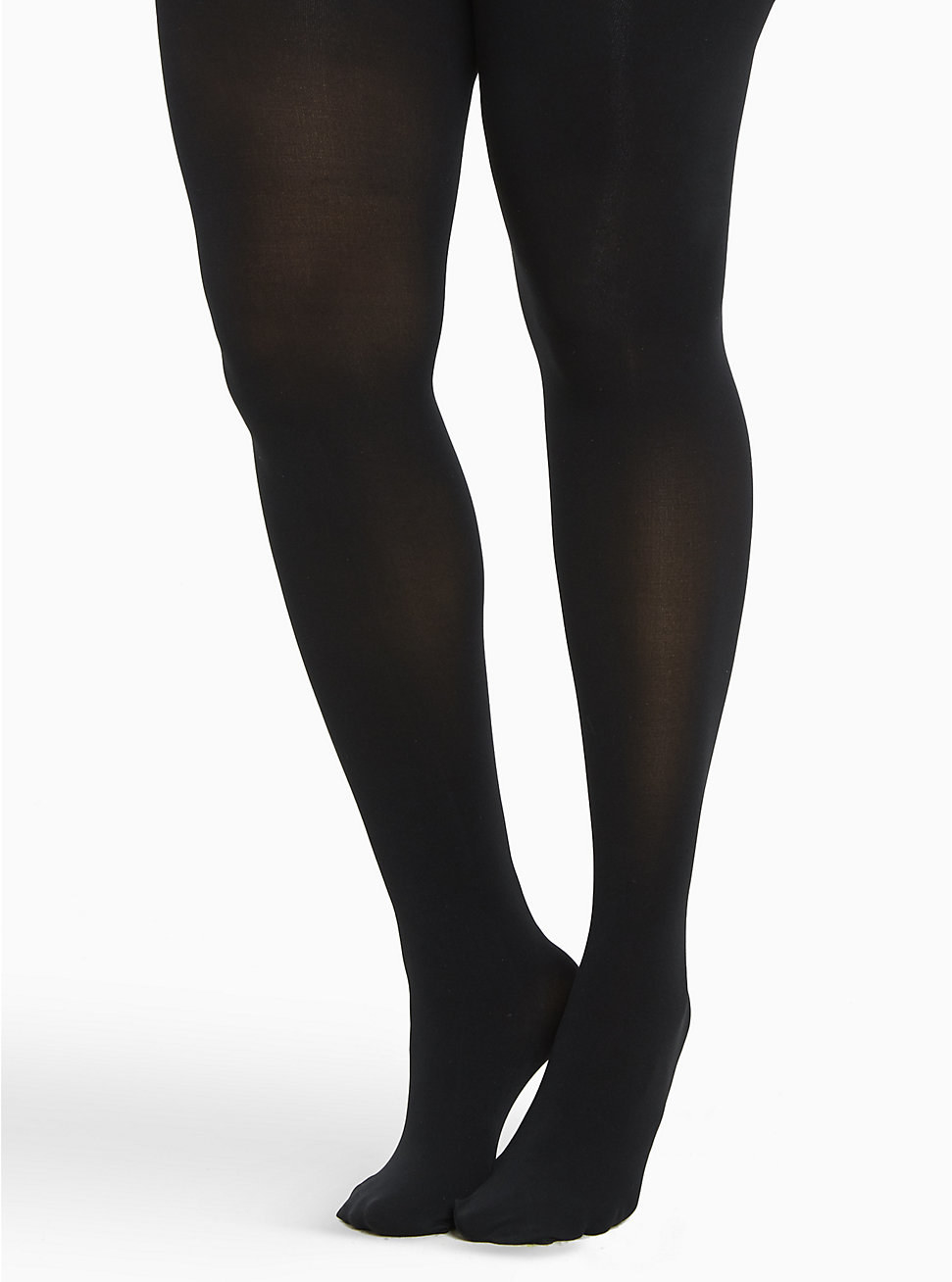 a model wearing the black tights