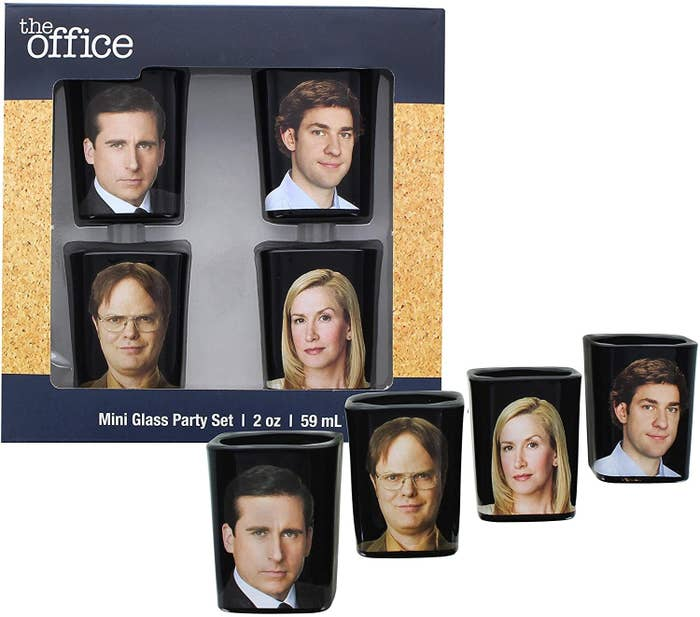 the office character shot glass set