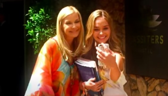 Katherine Kelly Lang poses for a selfie on Neighbours