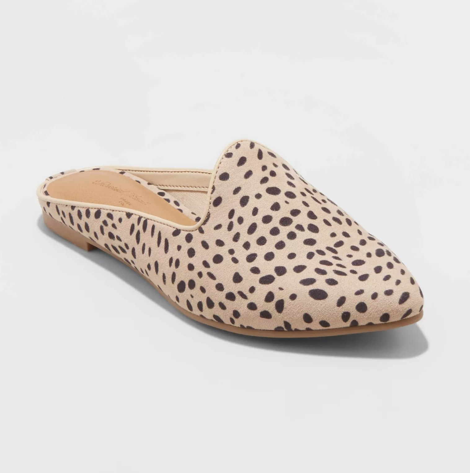 The shoes in brown/leopard