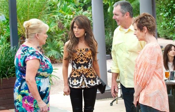 Paula Abdul on the set of Neighbours