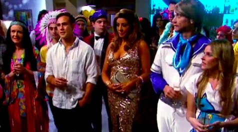 Gina Liano at a costume part on Neighbours