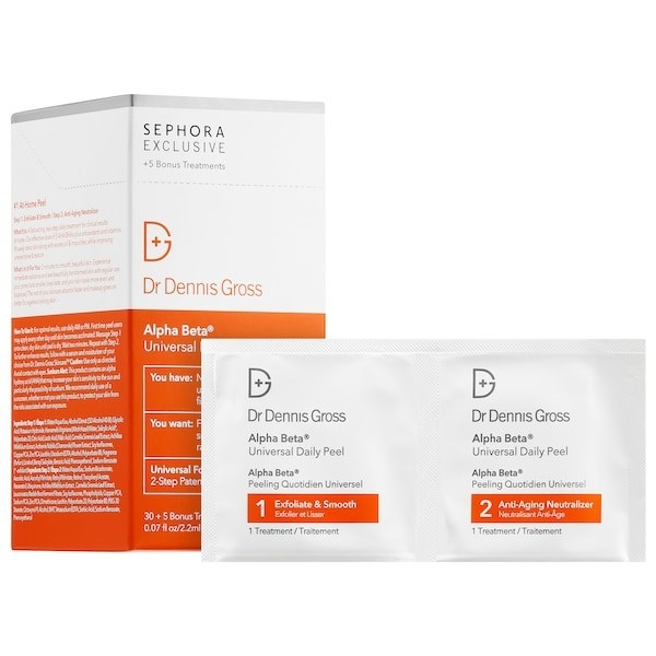 the peel packets and box of 30 treatments