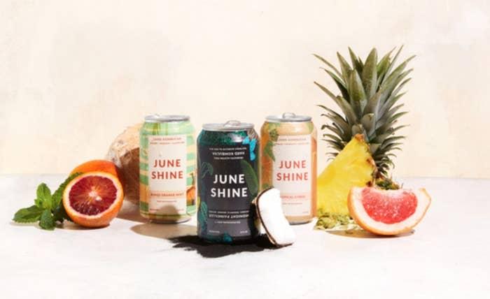 The pack of JuneShine hard kombucha