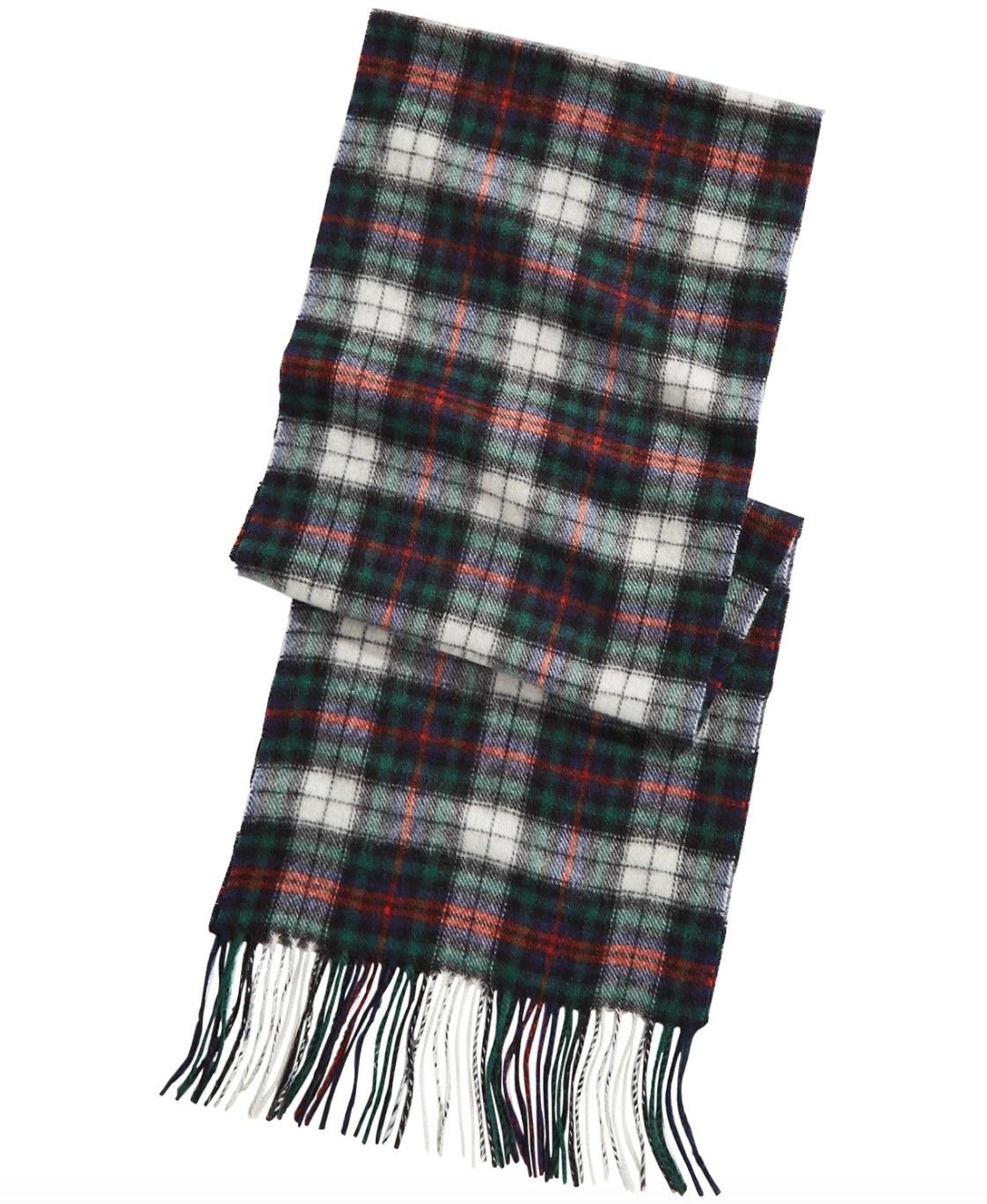 A plaid scarf