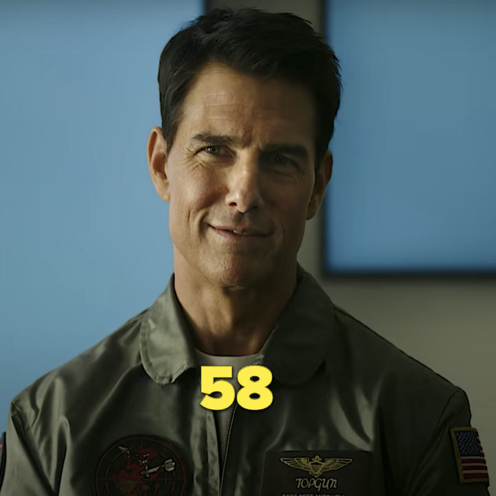 "Tom Cruise in his uniform in the ""Top Gun"" sequel trailer"