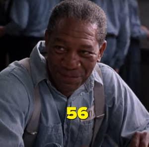 "Morgan Freeman dalam ""The Shawshank Redemption"""