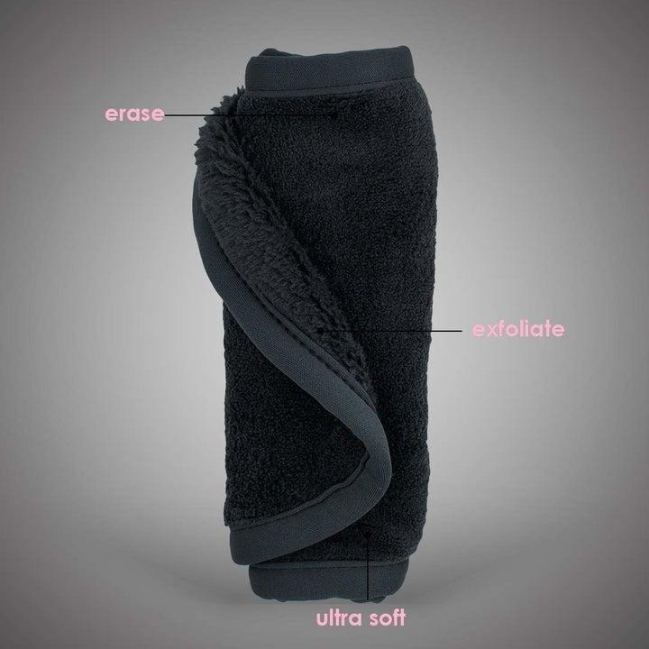 a black washcloth